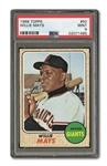 1968 TOPPS #50 WILLIE MAYS PSA MINT 9