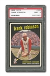 1959 TOPPS #435 FRANK ROBINSON PSA MINT 9 (JUST ONE HIGHER)