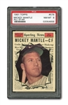 1961 TOPPS #578 MICKEY MANTLE ALL-STAR PSA NM-MT 8