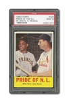1963 TOPPS #138 MAYS/MUSIAL (PRIDE OF THE N.L.) PSA MINT 9