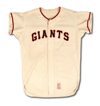 1968 WILLIE MAYS SAN FRANCISCO GIANTS GAME WORN HOME JERSEY WITH TEAM DOCUMENTATION (MEARS A9.5)