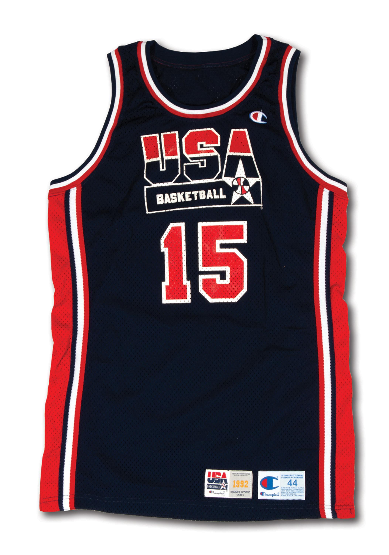 promo code ba196 c8f1d Lot Detail - 1992 MAGIC JOHNSON USA BASKETBALL OLYMPIC ...