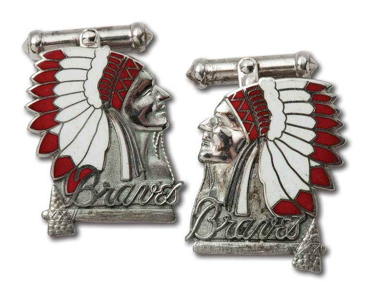 1948 BOSTON BRAVES NATIONAL LEAGUE CHAMPIONS STERLING SILVER CUFFLINKS