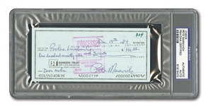 PETE MARAVICH SIGNED BANK CHECK (PSA/DNA AUTHENTIC)