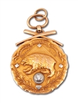 OCT. 3, 1911 DENVER GRIZZLIES WESTERN LEAGUE CHAMPIONS 14K GOLD FOB AWARDED BY PRESIDENT WILLIAM H. TAFT TO TEAM OWNER JAMES McGILL