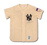 MICKEY MANTLE AUTOGRAPHED 1951 NEW YORK YANKEES HOME MITCHELL & NESS THROWBACK JERSEY