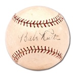 C. LATE 1920S BABE RUTH AND LOU GEHRIG DUAL-SIGNED SPALDING BASEBALL (VERY CLEAN EXAMPLE)