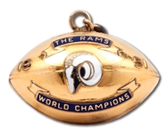 1951 LOS ANGELES RAMS NFL WORLD CHAMPIONS GOLD-FILLED FOB (CHARM)