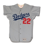 1974 BILL BUCKNER LOS ANGELES DODGERS GAME WORN ROAD JERSEY (SCD A10)