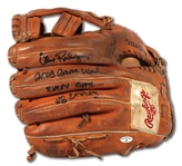 2003 ALEX RODRIGUEZ SIGNED & INSCRIBED RAWLINGS FIELDERS GLOVE USED EVERY GAME DURING 1ST MVP SEASON (PSA/DNA TAUBE & ESKEN)