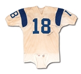 1967 ROMAN GABRIEL AUTOGRAPHED LOS ANGELES RAMS GAME WORN WHITE DURENE HOME JERSEY (MEARS A10)