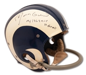 1969 ROMAN GABRIEL SIGNED & INSCRIBED LOS ANGELES RAMS GAME USED HELMET FROM HIS MVP SEASON (GABRIEL LOA)