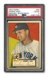 1952 TOPPS #49 JOHNNY SAIN ERROR PSA GD 2