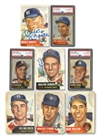 1953 TOPPS BASEBALL AUTOGRAPHED PARTIAL SET (146/274) WITH PSA/DNA AUTH. MANTLE & MORE