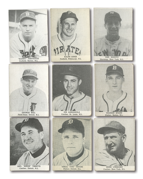 1947 TIP TOP BREAD LOT OF (48) DIFFERENT INCL. SPAHN, LOMBARDI, RIZZUTO, KINER, KELL, ETC.