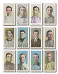 1910-11 M116 SPORTING LIFE LOT OF (32) DIFFERENT INCL. BAKER, DUFFY, HUGGINS & WALLACE (3 BLUE BACKGROUNDS)