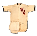 1933 CHICAGO WHITE SOX GAME WORN HOME JERSEY (PLAYER UNKNOWN) AND 1934 JOHN POMORSKI GAME WORN PANTS