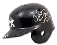 7/22/2010 ALEX RODRIGUEZ SIGNED & INSCRIBED NEW YORK YANKEES BATTING HELMET WORN TO HIT CAREER HOME RUN #599 (A-ROD LOA, MLB AUTH.)