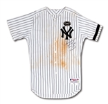 7/22/2010 ALEX RODRIGUEZ SIGNED & INSCRIBED NEW YORK YANKEES JERSEY WORN TO HIT CAREER HOME RUN #599 - EASILY PHOTO-MATCHED (A-ROD LOA, MLB AUTH.)