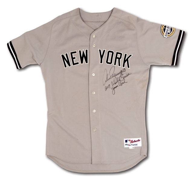 2009 ALEX RODRIGUEZ NEW YORK YANKEES WORLD SERIES GAME WORN JERSEY- HIS ONLY CHAMPIONSHIP (A-ROD LOA)