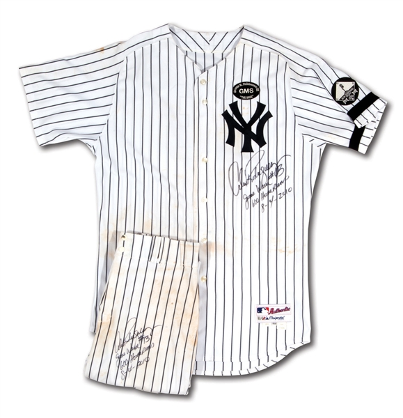 8/4/2010 ALEX RODRIGUEZ N.Y. YANKEES 600TH CAREER HOME RUN GAME WORN UNIFORM - SIGNED, INSCRIBED & PHOTO-MATCHED (A-ROD & RESOLUTION LOAS, MLB AUTH.)