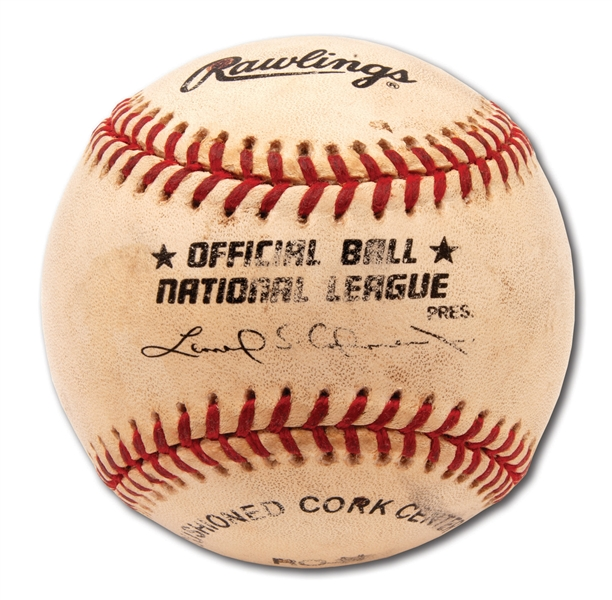 8/5/1999 MARK MCGWIRE 500TH CAREER HOME RUN BASEBALL (PSA/DNA COA - MILESTONE BALL VERIFICATION)