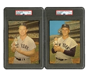 1961-63 MICKEY MANTLE AND ROGER MARIS BOBBIN HEAD DOLLS AD PHOTOS (BOTH PSA VG-EX 4)
