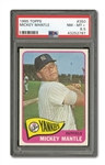 1965 TOPPS #350 MICKEY MANTLE PSA NM-MT+ 8.5