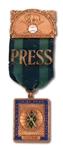 1914 PHILADELPHIA ATHLETICS WORLD SERIES PRESS PIN