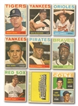 1964 VENEZUELAN TOPPS BASEBALL LOT OF (38) INCL. AARON, BERRA, STARGELL, ETC.