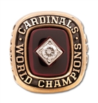 CHUB FEENEYS 1982 ST. LOUIS CARDINALS WORLD SERIES CHAMPIONS 10K GOLD RING PRESENTED TO THE N.L. PRESIDENT (FEENEY FAMILY LOA)