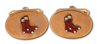 LATE 1930S/40S BOBBY DOERR BOSTON RED SOX CUFFLINKS (EX-DOERR ESTATE)