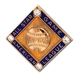1939 MYRIL HOAG MLB ALL-STAR GAME 10K GOLD PRESENTATION PIN WITH DIAMONDS