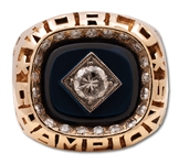 1978 MICKEY MANTLE NEW YORK YANKEES WORLD SERIES CHAMPIONS 14K GOLD RING - HIS LAST ISSUED RING (MANTLE FAMILY LOA)