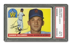 1955 TOPPS #124 HARMON KILLEBREW ROOKIE PSA NM 7