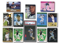 DEREK JETER LOT OF (12) INCL. 1993 SP FOIL #279 (PSA NM-MT 8) PLUS OTHER ROOKIE CARDS