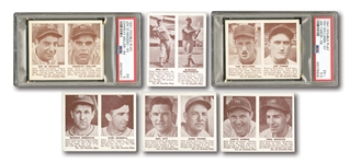1941 DOUBLE PLAY LOT OF (17) DIFFERENT INCL. JOE DIMAGGIO PSA EX 5, TED WILLIAMS PSA EX+ 5.5, MEL OTT (2), GOMEZ, RIZZUTO, APPLING & HUBBELL