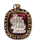 1985 ST. LOUIS CARDINALS NATIONAL LEAGUE CHAMPIONS 10K GOLD PENDANT WITH DIAMONDS