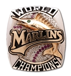 2003 FLORIDA MARLINS WORLD SERIES CHAMPIONS 10K GOLD STAFF RING