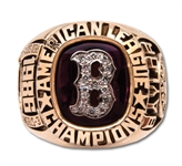 DON BAYLORS 1986 BOSTON RED SOX AMERICAN LEAGUE CHAMPIONS 10K GOLD RING (BAYLOR FAMILY LOA)