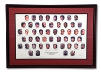 ELVIN HAYES PERSONAL NBA 50 GREATEST PLAYERS MULTI-SIGNED LITHOGRAPH - 1/1 PLAYERS EDITION