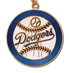 "MID-1950S BROOKLYN DODGERS LARGE 2"" DIAMETER PENDANT WITH ORIGINAL PRESENTATION BOX"