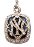 2009 NEW YORK YANKEES WORLD SERIES CHAMPIONS 14K GOLD PENDANT (W/ ORIGINAL BOX) ISSUED TO COACH & EXECUTIVE BILLY CONNORS