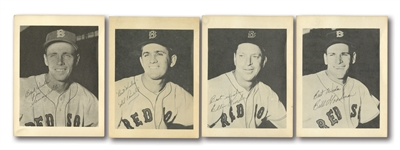 1953 FIRST NATIONAL SUPER MARKET BOSTON RED SOX COMPLETE SET OF (4) WITH GOODMAN, WHITE, PARNELL & KINDER