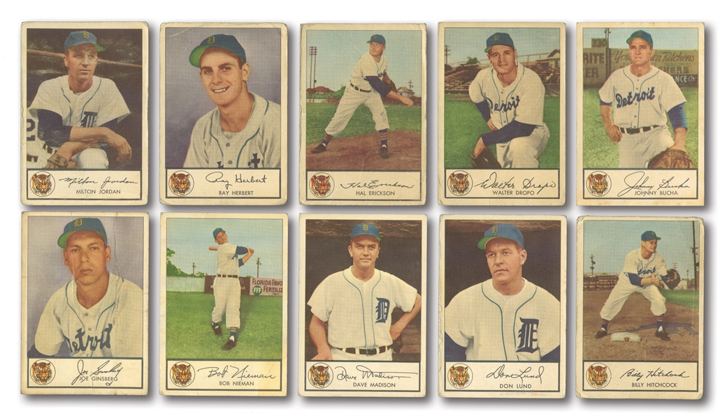 1953 GLENDALE HOT DOGS DETROIT TIGERS LOT OF (10)