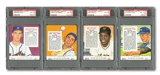 1955 RED MAN BASEBALL COMPLETE SET OF (50) WITH ALL CARDS GRADED NM-MT 8 OR MINT 9 (MOSTLY PSA)