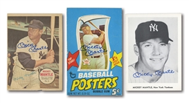 MICKEY MANTLE AUTOGRAPHED LOT OF (6) ASSORTED ITEMS