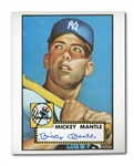 PAIR OF MICKEY MANTLE AUTOGRAPHED 1952 TOPPS CARD RENDERINGS