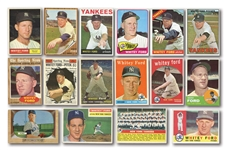 1951-67 WHITEY FORD BOWMAN AND TOPPS COLLECTION OF (21) CARDS