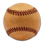 VINTAGE CONNIE MACK SINGLE SIGNED BASEBALL